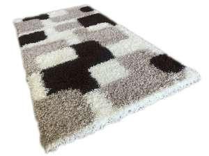 Shaggy Caprice Szőnyeg 80x150cm #bézs-fehér 30496006