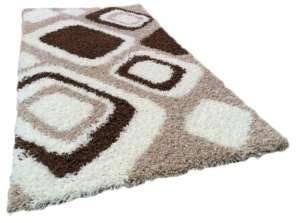 Shaggy Marina Szőnyeg 80x150cm #barna-bézs-fehér 30496007