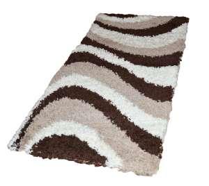 Shaggy River Szőnyeg 80x150cm #barna-fehér 30496008