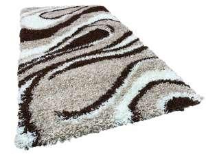 Shaggy Laura Szőnyeg 80x150cm #barna-bézs-fehér 30496017