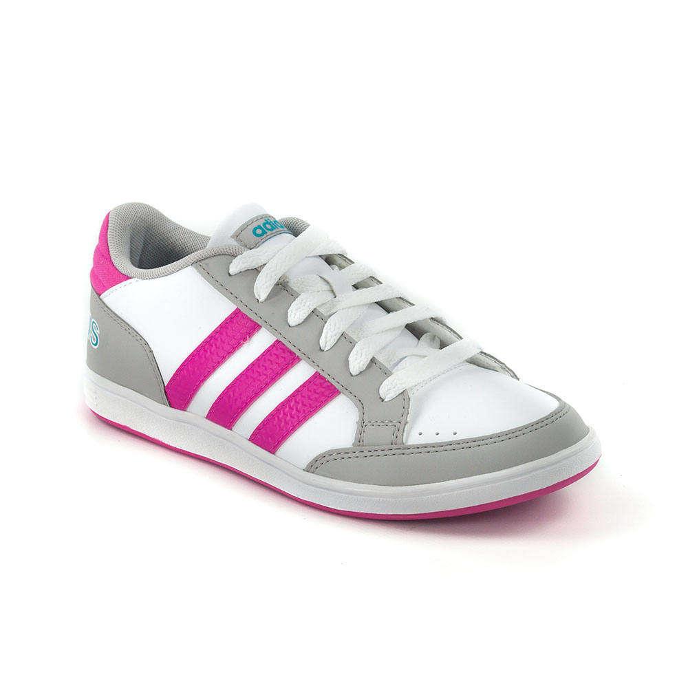 Adidas Neo Hoops K lány Utcai Cipő  fehér-szürke-rózsaszín  1f1edb25db