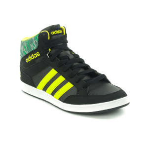 83950a45ed Adidas Neo Hoops Mid K Junior Fiú Száras Cipő #fekete-neon