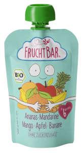 Fruchtbar Bio cukor-és gluténmentes ananász-mangó-mandarin Bébidesszert 6hó/100g - 16db 30497591 Bébiétel, snack