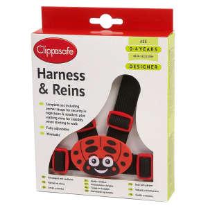 Clippasafe Ülésrögzítő és kantár #fekete-piros 30497629