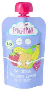 Fruchtbar Bio kiwi, körte, banán, kétszersült 6 hó 100G ~ 16 db 30497690 Bébiétel, snack