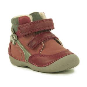 D.D.Step Baby Lány Száras Téli Cipő  piros-szürke 82531a5335