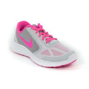 Nike Revolution 3 GS Futócipő  szürke-pink-fehér b362499d37