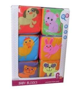 BamBam állatos játékkocka 6db 30500346 Fejlesztő játék babáknak