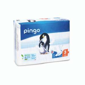 Pingo ökológiai eldobható pelenka Midi 3, 4-9 kg, 44 db 30631566