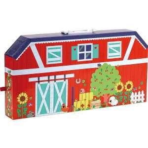Kicsi farm hordozható bőröndben fa kiegészítőkkel 30631578 Fajáték