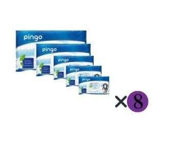 Pingo öko nedves Törlőkendő csomag (öko) 8x80db