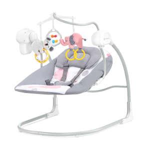 Kinderkraft Minky Elektromos hinta #rózsaszín-szürke 30706850 Pihenőszék, elektromos hinta