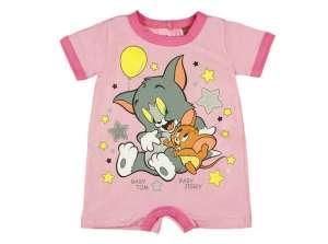 Rövid ujjú Napozó - Tom és Jerry #rózsaszín 30707463 Rugdalózó, napozó