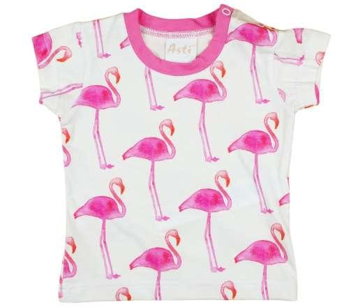 Flamingó mintás baba rövid ujjú Póló