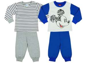 Disney fiú 2 db-os Pizsama szett - Mickey Mouse #kék-szürke 30707838 Gyerek pizsama, hálóing