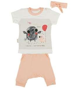Kislány  3 részes  Szett - Madárka #barack 30709476 Ruha együttes, szett gyerekeknek
