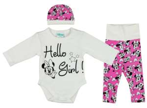 bfee2a503f Disney Minnie 3 részes (sapka+nadrág+body) Szett Hello Girl! 30709480