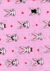 Textil pelenka 1db - Nyuszi #rózsaszín 30712416 Textil pelenka