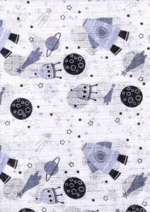 Textil pelenka 1db - Űrhajó #kék 30712429 Textil pelenka