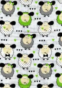 Textil pelenka 1db - Bárány #fehér-zöld 30712432 Textil pelenka