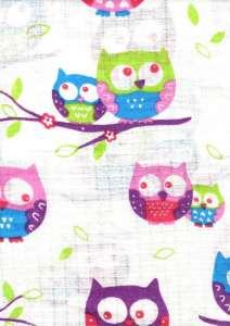 Textil pelenka 1db - Bagoly #lila-fehér 30712434 Textil pelenka