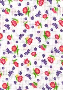 Textil pelenka 1db - Virág #fehér-rózsaszín 30712436 Textil pelenka