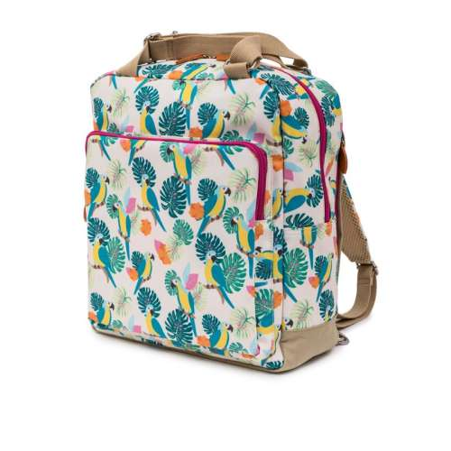 Pink Lining Wonder Bag -parrot cream