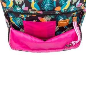 Pink Lining Wonder Bag parrot black