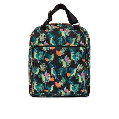 Pink Lining Wonder Bag parrot black