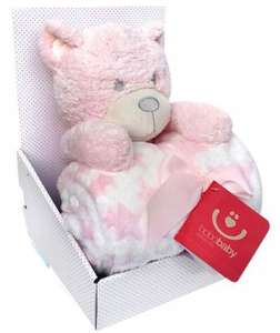 Bobobaby Pléd+plüss figura - Maci #rózsaszín 30720944
