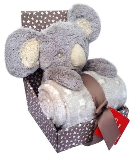 Bobobaby Pléd+plüss figura - Koala #szürke