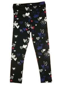 Lányka hosszú Leggings - Szív #fekete 30755721 Gyerek nadrág, leggings