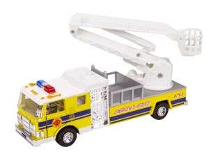 Emelőkosaras tűzoltósági Autó - 18cm #sárga 31040681 Autós játékok, autó, jármű