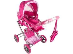 Játék babakocsi táskával #rózsaszín 31027772 Játék babakocsi