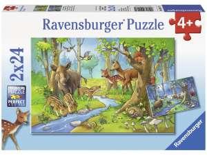 Ravensburger gyerek Puzzle 2x24db - Erdei állatok 31036355