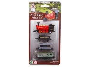 Fém vonat kocsikkal 4 darabos készlet - többféle 31036185 Vonat, vasúti elem, autópálya