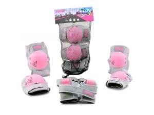 Sport Védőfelszerelés lányoknak #rózsaszín-szürke 31032029 Biciklis védőfelszerelés, kiegészítő