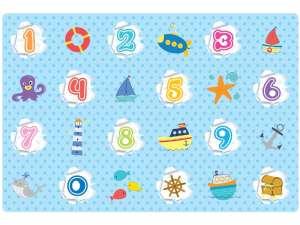 Óceán és számok játszószőnyeg 31035807 Szivacs puzzle