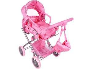 Játék babakocsi táskával #rózsaszín 31037567 Játék babakocsi