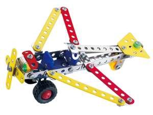 Fém építőjáték 108 db - Repülőgép  31023478 Fém építőjáték