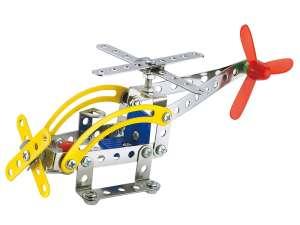Fém építőjáték 82 db - Helikopter 31028845 Fém építőjáték