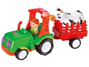 játék Traktor utánfutóval 38cm #zöld-piros 31029251