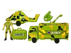 Katonai autó és helikopter készlet figurával 31023473 Katonai és rendőr felszerelés