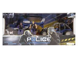 Rendőr autó és helikopter készlet figurákkal 31036637 Katonai és rendőr felszerelés