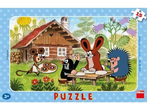 Gyerek Puzzle 15db - Kisvakond látogatóban