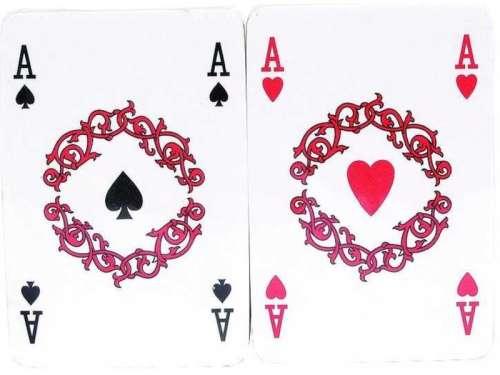 Francia kártya celofánban 2 x 55 lapos csomag