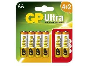 GP Ultra AA Ceruzaelem 6db 31037058 Elem, akkumulátor
