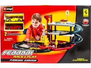 Bburago Ferrari Parkolóház kiegészítőkkel 31023718 Autópálya, parkolóház