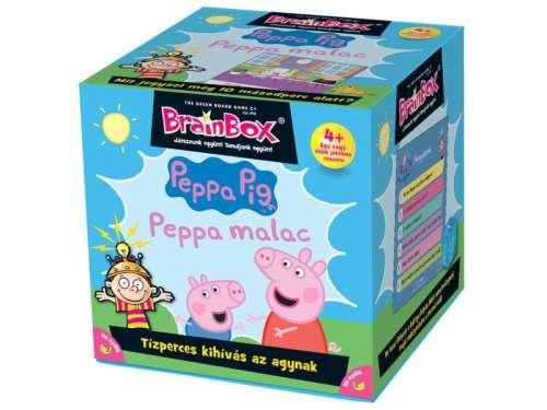 Green Board Game BrainBox Társasjáték Peppa malac