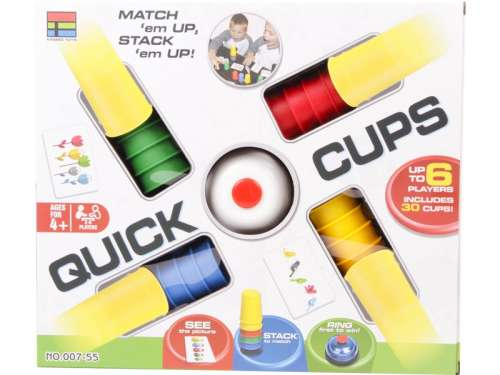 Quick Cups színes poharak Társasjáték